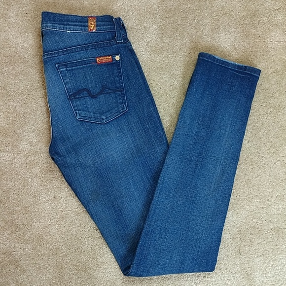 7 For All Mankind Denim - 7 For All Mankind Roxanne Skinny Jeans Sz 25